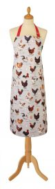 Chicken and Egg Cotton Apron by Madelaine Floyd