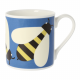 Orla Kiely Blue Busy Bee Quite Big Cina Mug - 350ml