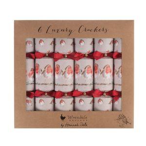 Wrendale Designs Luxury Robin Christmas Crackers - Large - Set of 6