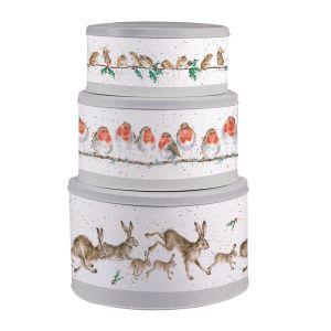 Wrendale Designs Christmas Cake Tin Nest - Set of 3 Cake Tins