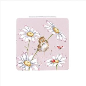 Wrendale 'Ooops a Daisy' Mouse Compact Mirror